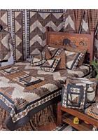 Peasant Log Cabin Linens