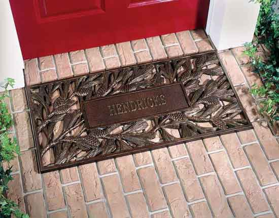 Personalized Pinecone Door Mat