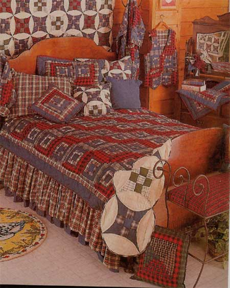 Red Log Cabin Linens