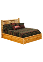 Cedar Small Spindle Platform Bed