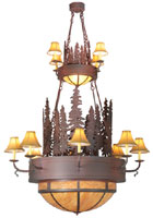 Walden Pine Two Tier Chandelier