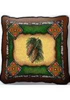 Pine Cone Lodge Pillow