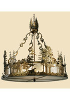 Quail Hunter with Dog Chandelier