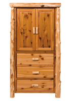 Cedar 3 Drawer Armoire