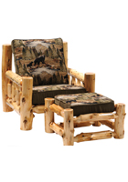 Cedar Log Frame Lounge Chair