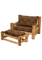Cedar Log Frame Chair-and-a-Half