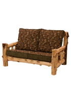 Cedar Log Frame Love Seat
