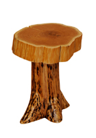 Cedar Stump End Table