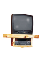 Cedar Corner TV Shelf