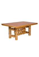 Cedar Rectanglular Log Dining Table Standard Height