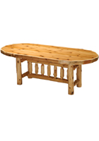 Cedar Oval Dining Table Counter Height
