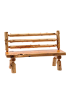 Cedar Log Bench with Back
