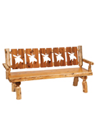 Cedar 72&quot; Cutout Log Bench
