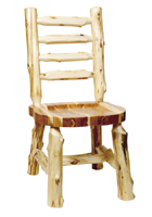 Cedar Ladderback Log Side Chair