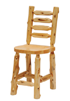 Cedar Ladderback Bar Stool