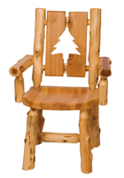 Cedar Cutout Log Arm Chair
