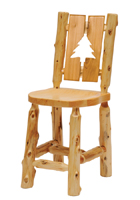 Cedar Cutout Log Barstool