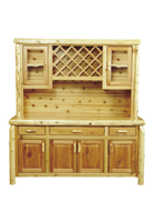 Cedar Hutch with Wine Rack