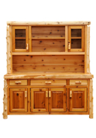 Cedar Hutch with Open Shelves