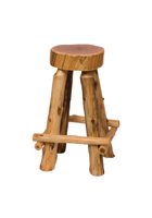 Cedar Slab Barstool with Outside Footrest