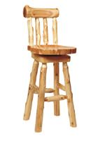 Cedar Log Barstool