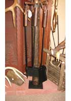 Hickory Fireplace Tool Set with Metal Base
