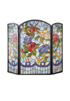 Dragonfly Flower Fireplace Screen