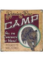 Running Bear Camp Sign