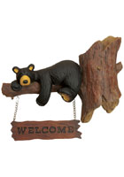 Bear Messages Welcome Sign