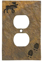 """Moose and Tracks"" Outlet Cover"