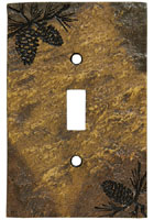 Pinecone Single Switch Plate Cover