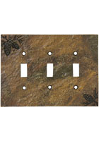 Pinecone Triple Switch Plate Cover