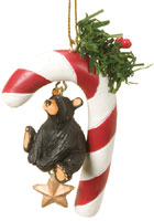 Candy Cane Star Bearfoots Ornament