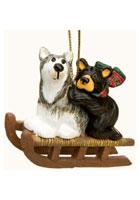 Bear and Sled Dog Oranment