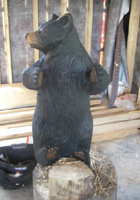 Black Bear Cub Chainsaw Carving