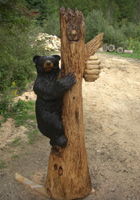 Black Bear Chainsaw Carving