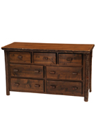Hickory Seven Drawer Dresser