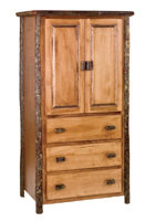 Hickory Three Drawer Armoire