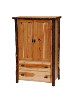 Hickory Two Drawer Wardrobe