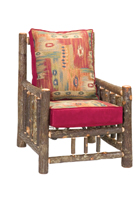Hickory Log Frame Lounge Chair