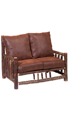 Hickory Log Frame Loveseat