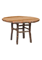 Hickory Round Dining Table Counter Height