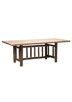 Hickory Rectangular Log Dining Table Standard Height