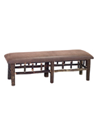Hickory Bench with Upholstered Seat