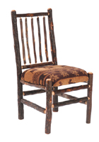 Hickory Upholstered Spoke Back Side Chair
