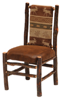 Hickory Upholstered Back Side Chair