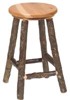 Hickory Round Barstool