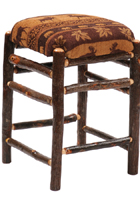 Hickory Square Fabric Barstool
