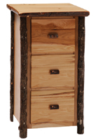 Hickory 3 Drawer File Cabinet