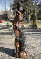 Black Bears in Tree Chainsaw Carving